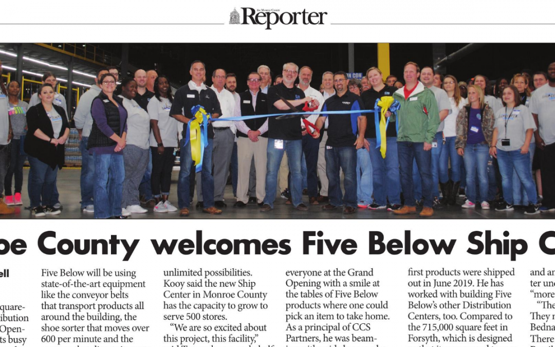Monroe County Welcomes Five Below Ship Center